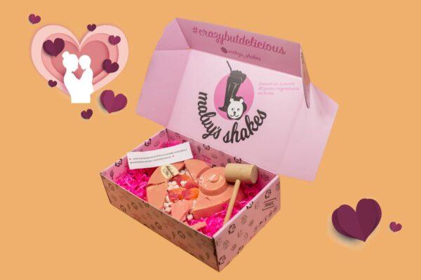 TREAT BOX DÍA DE MAMI Caja-Corazón-de-chocolate Malvys shakes
